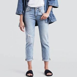 Levi's Jeans - Levi's Boyfriend Fit Cuffed Cropped Midrise Jeans